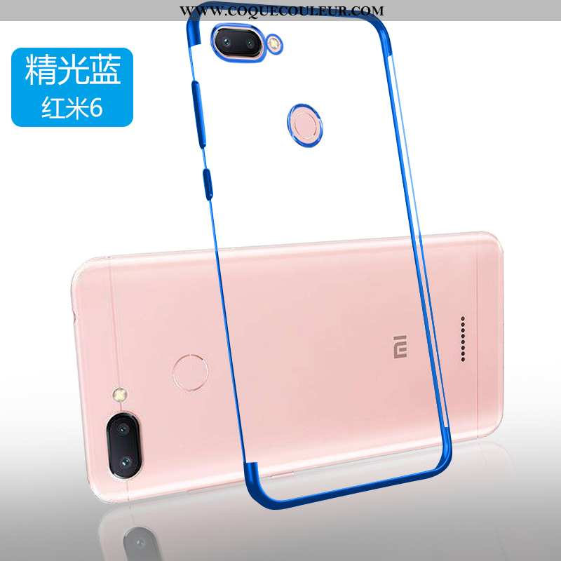 Étui Xiaomi Redmi 6 Fluide Doux Tendance Téléphone Portable, Coque Xiaomi Redmi 6 Silicone Rouge Ble