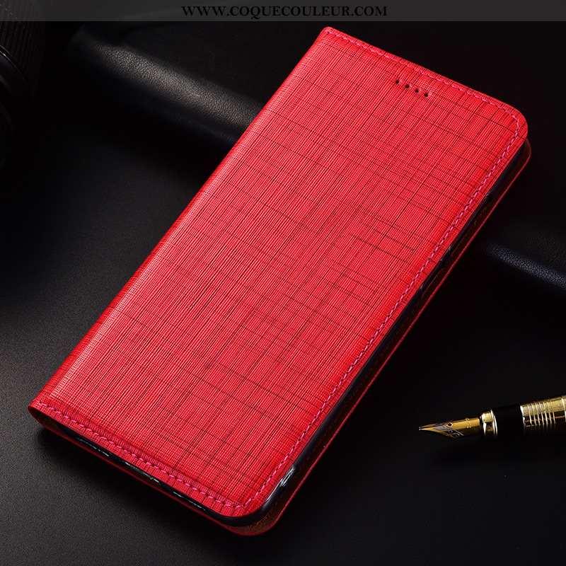 Housse Xiaomi Redmi 6 Silicone Rouge Téléphone Portable, Étui Xiaomi Redmi 6 Protection Cuir Véritab