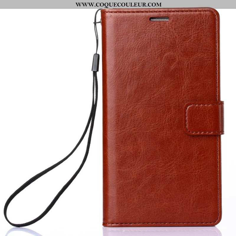 Housse Xiaomi Redmi 6 Cuir Rouge Petit, Étui Xiaomi Redmi 6 Protection Marron