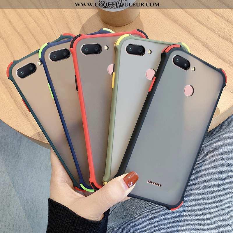 Coque Xiaomi Redmi 6 Transparent Incassable Téléphone Portable, Housse Xiaomi Redmi 6 Délavé En Daim