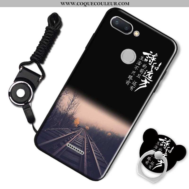 Housse Xiaomi Redmi 6 Personnalité Coque Noir, Étui Xiaomi Redmi 6 Créatif Silicone Noir