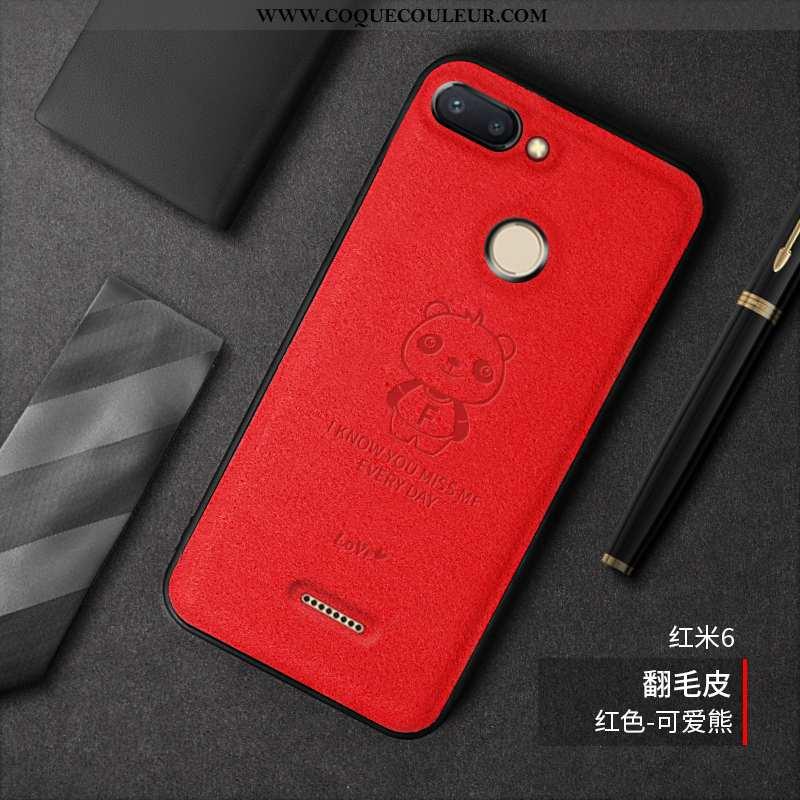 Coque Xiaomi Redmi 6 Fluide Doux Petit Mode, Housse Xiaomi Redmi 6 Daim Fourrure Téléphone Portable