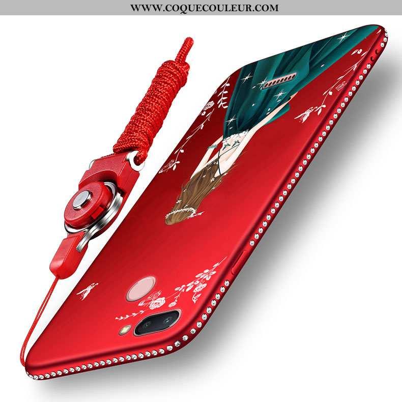 Étui Xiaomi Redmi 6 Silicone Petit Ornements Suspendus, Coque Xiaomi Redmi 6 Protection Légère Rouge