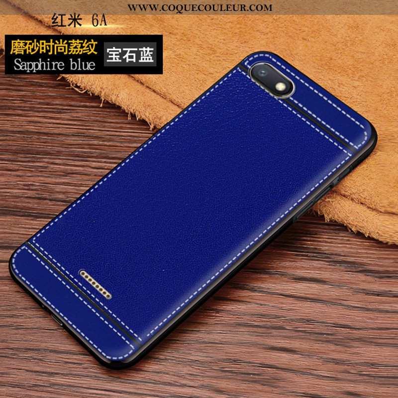 Étui Xiaomi Redmi 6a Protection Téléphone Portable Étui, Coque Xiaomi Redmi 6a Délavé En Daim Fluide