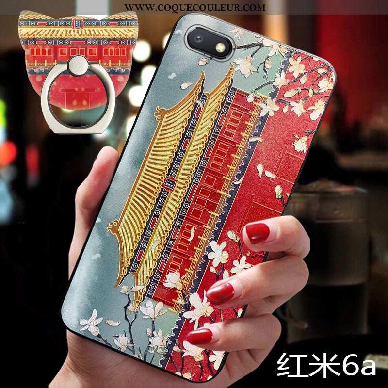 Housse Xiaomi Redmi 6a Personnalité Vent Style Chinois, Étui Xiaomi Redmi 6a Vintage Rouge