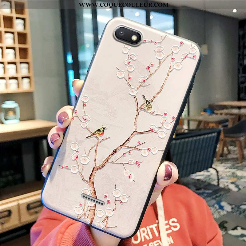 Housse Xiaomi Redmi 6a Protection Oiseau Téléphone Portable, Étui Xiaomi Redmi 6a Délavé En Daim Pet