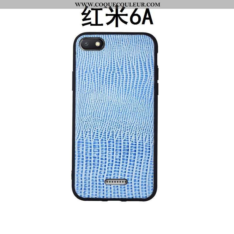 Étui Xiaomi Redmi 6a Protection Rouge Téléphone Portable, Coque Xiaomi Redmi 6a Cuir Véritable Tout