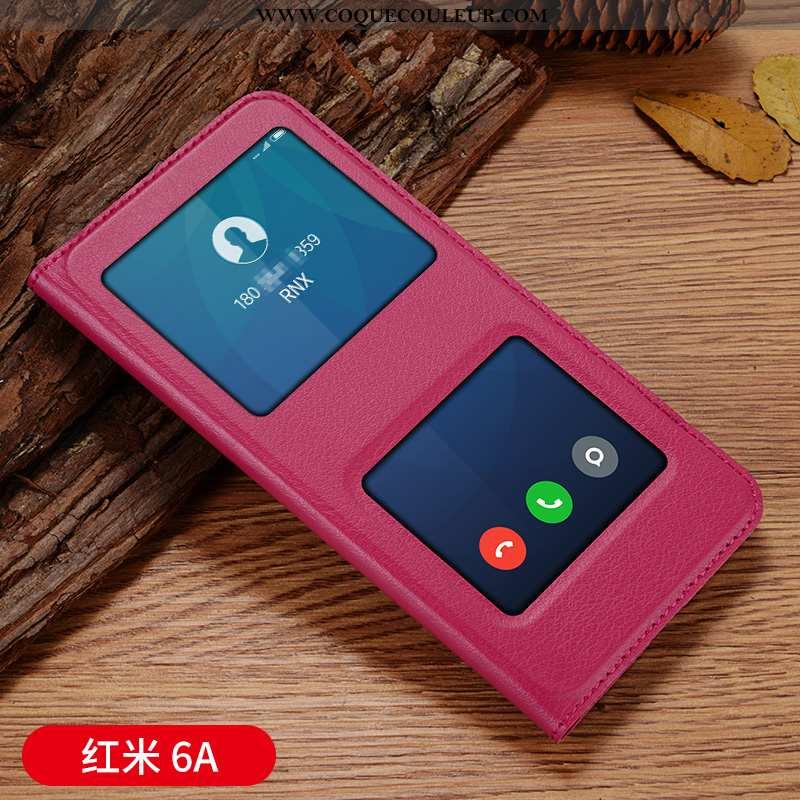 Étui Xiaomi Redmi 6a Protection Clamshell Créatif, Coque Xiaomi Redmi 6a Personnalité Petit Rose