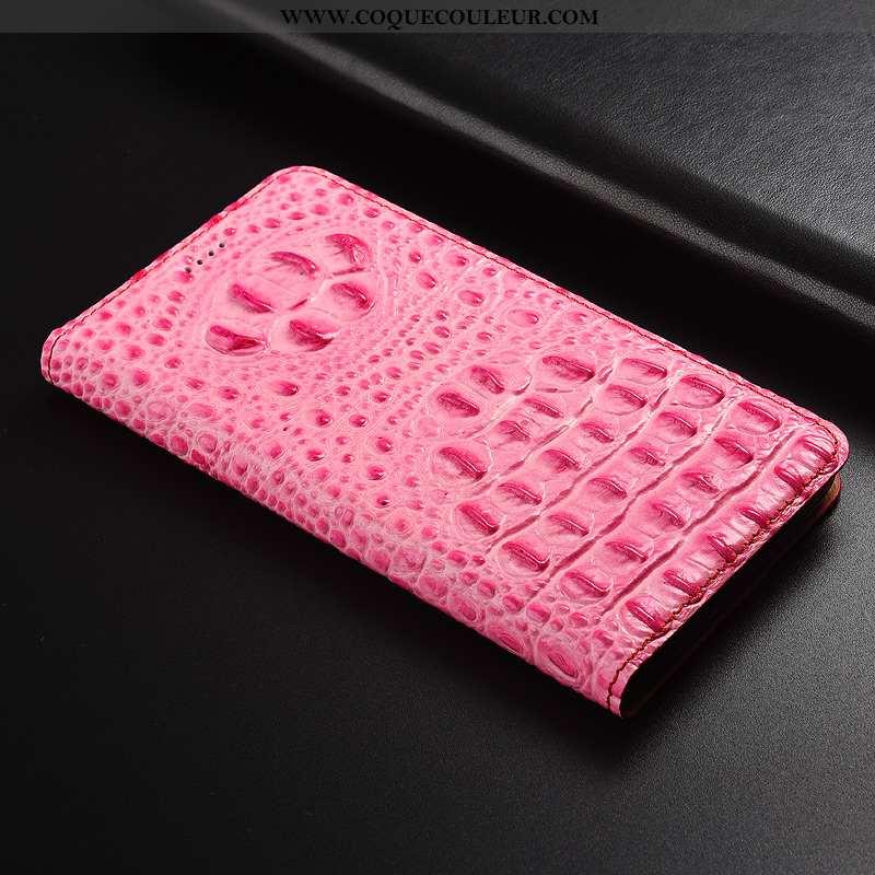 Étui Xiaomi Redmi 6a Protection Cuir Rouge, Coque Xiaomi Redmi 6a Cuir Véritable Téléphone Portable