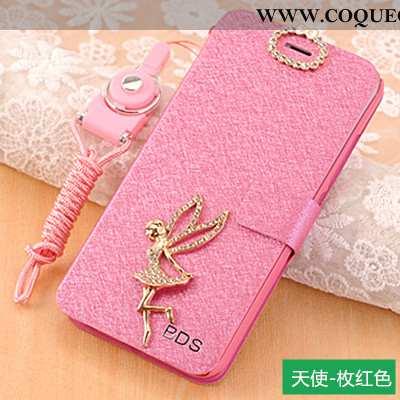 Coque Xiaomi Redmi 6a Protection Cuir, Housse Xiaomi Redmi 6a Ornements Suspendus Incassable Rose