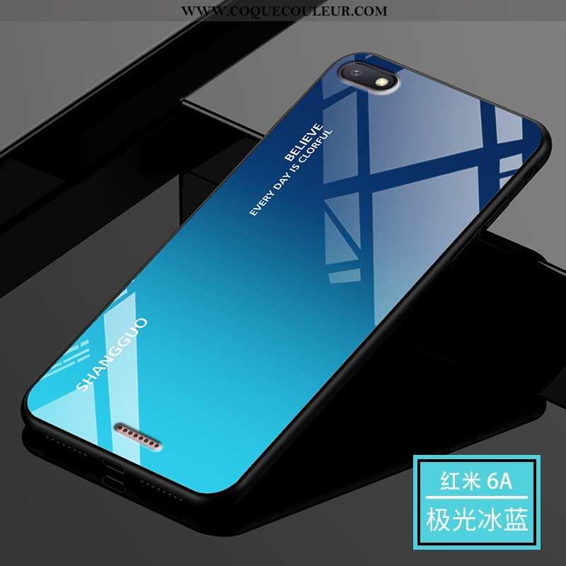 Étui Xiaomi Redmi 6a Protection Tendance Étui, Coque Xiaomi Redmi 6a Verre Bleu