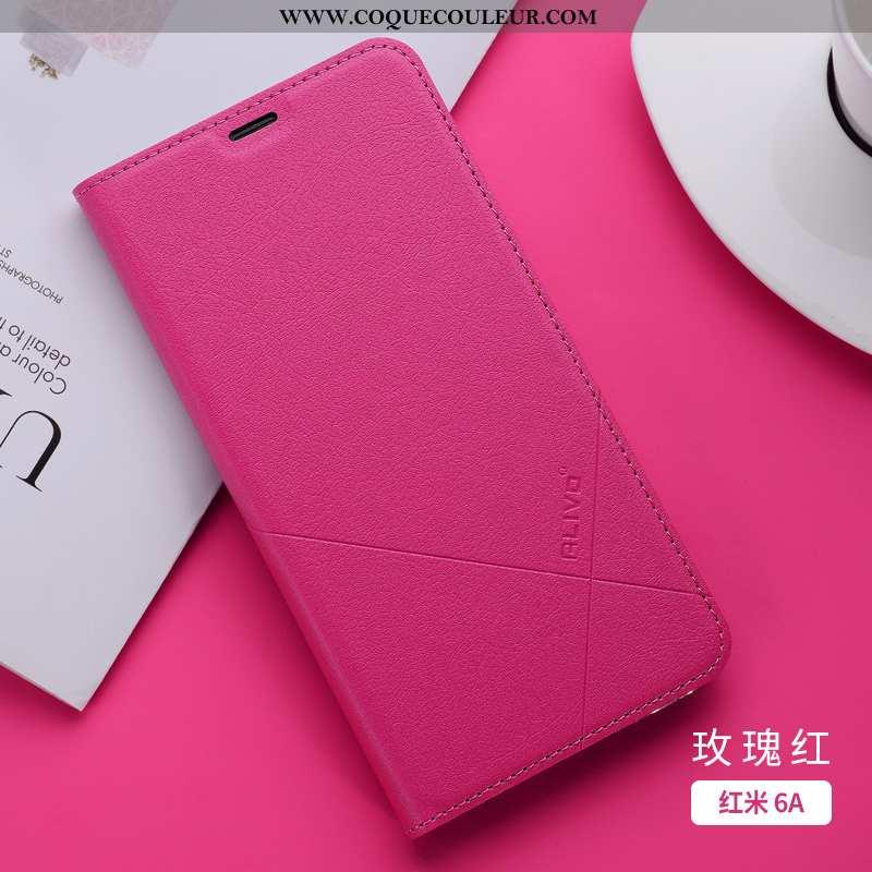 Étui Xiaomi Redmi 6a Silicone Fluide Doux Téléphone Portable, Coque Xiaomi Redmi 6a Protection Rose