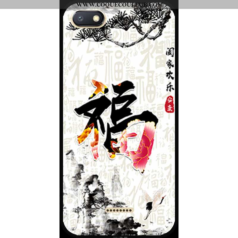Étui Xiaomi Redmi 6a Fluide Doux Dessin Animé, Coque Xiaomi Redmi 6a Personnalité Tout Compris Blanc