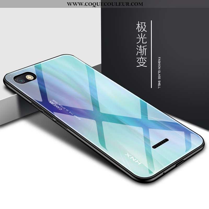 Étui Xiaomi Redmi 6a Verre Protection Incassable, Coque Xiaomi Redmi 6a Tendance Bleu