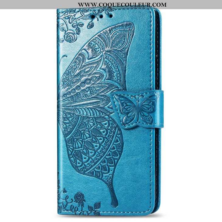 Étui Xiaomi Redmi 6a Cuir Petit Carte, Coque Xiaomi Redmi 6a Protection Clamshell Bleu