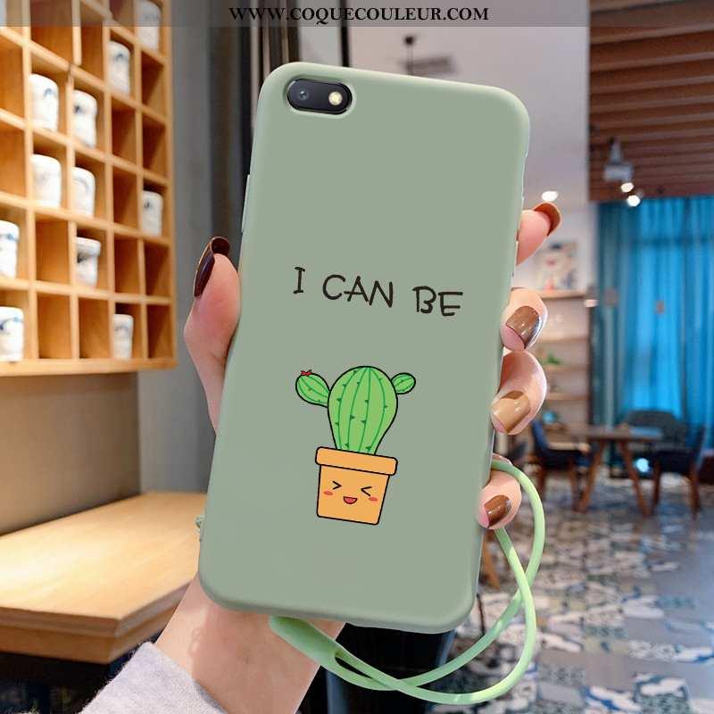 Étui Xiaomi Redmi 6a Protection Vert Fleurs, Coque Xiaomi Redmi 6a Personnalité Tendance Verte