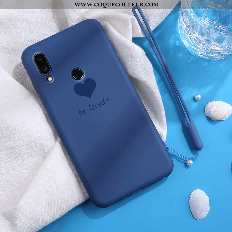 Housse Xiaomi Redmi 7 Coque En Silicone Simple Bleu Marin, Étui Xiaomi Redmi 7 Mode Petit Bleu Foncé
