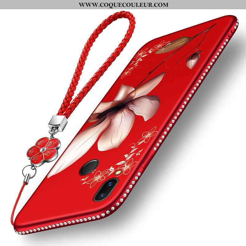Housse Xiaomi Redmi 7 Fluide Doux Art Légère, Étui Xiaomi Redmi 7 Silicone Délavé En Daim Rouge