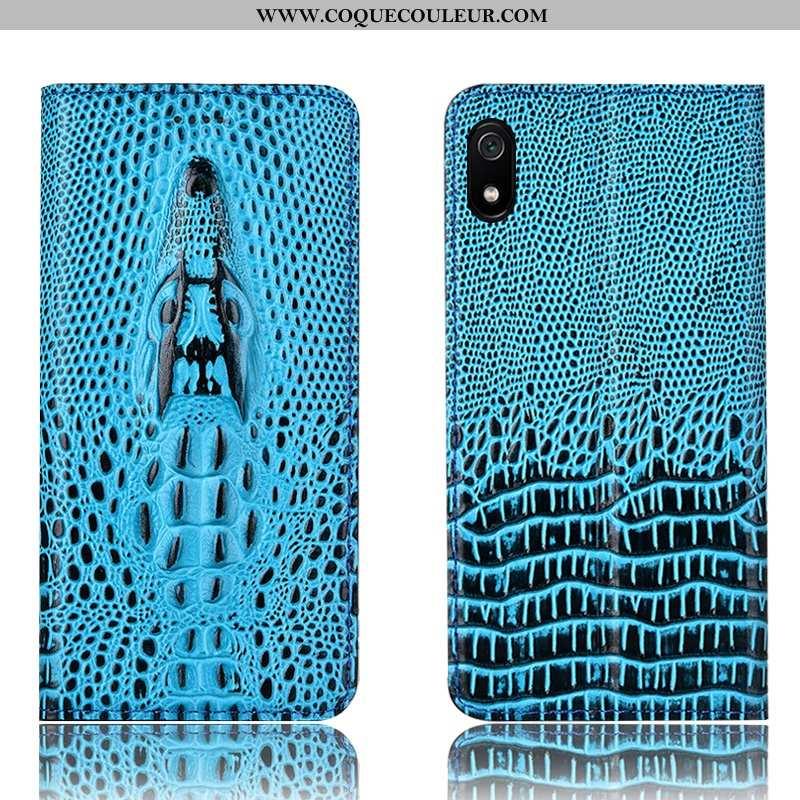 Housse Xiaomi Redmi 7a Protection Crocodile Téléphone Portable, Étui Xiaomi Redmi 7a Cuir Véritable
