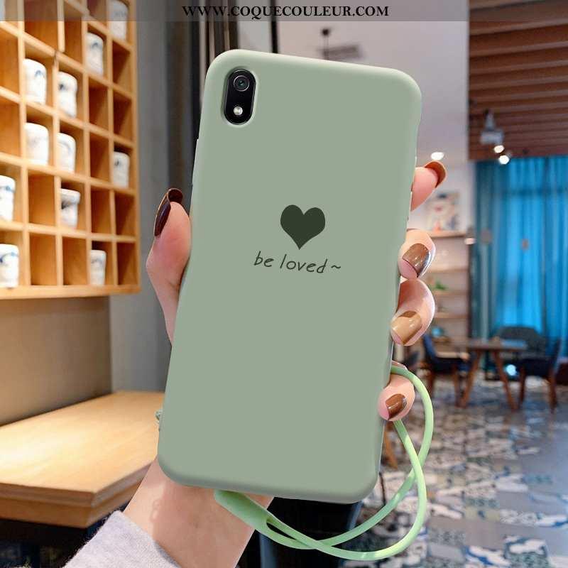 Étui Xiaomi Redmi 7a Légère Coque Incassable, Xiaomi Redmi 7a Fluide Doux Créatif Verte