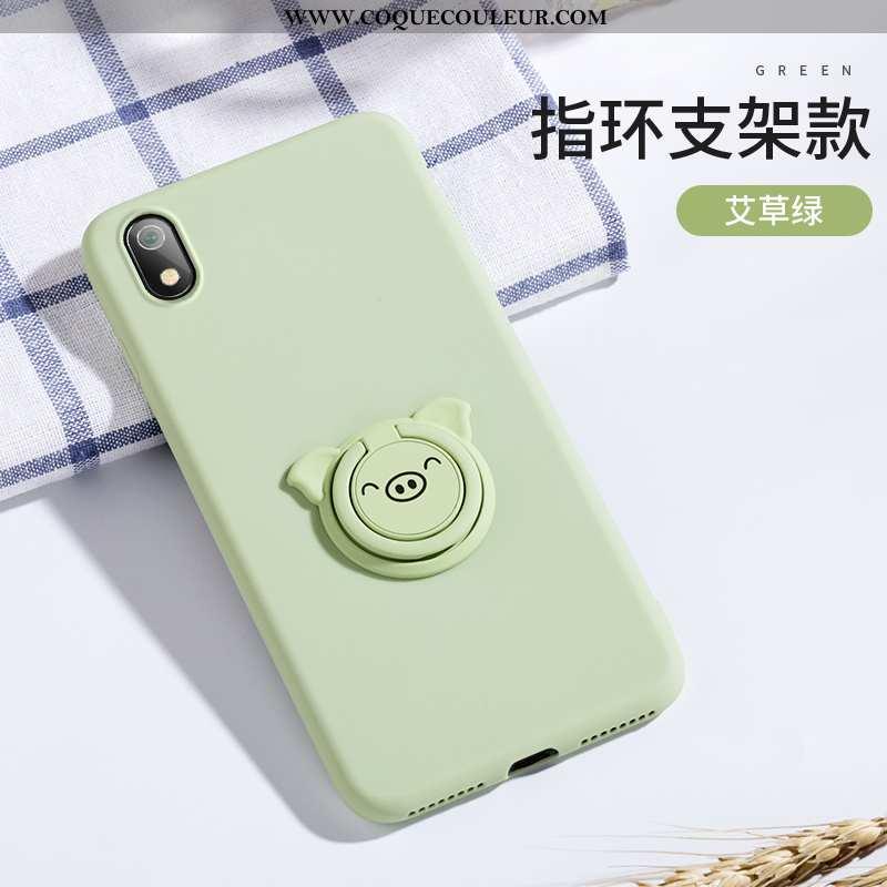 Housse Xiaomi Redmi 7a Silicone À Bord Tendance, Étui Xiaomi Redmi 7a Protection Fluide Doux Verte