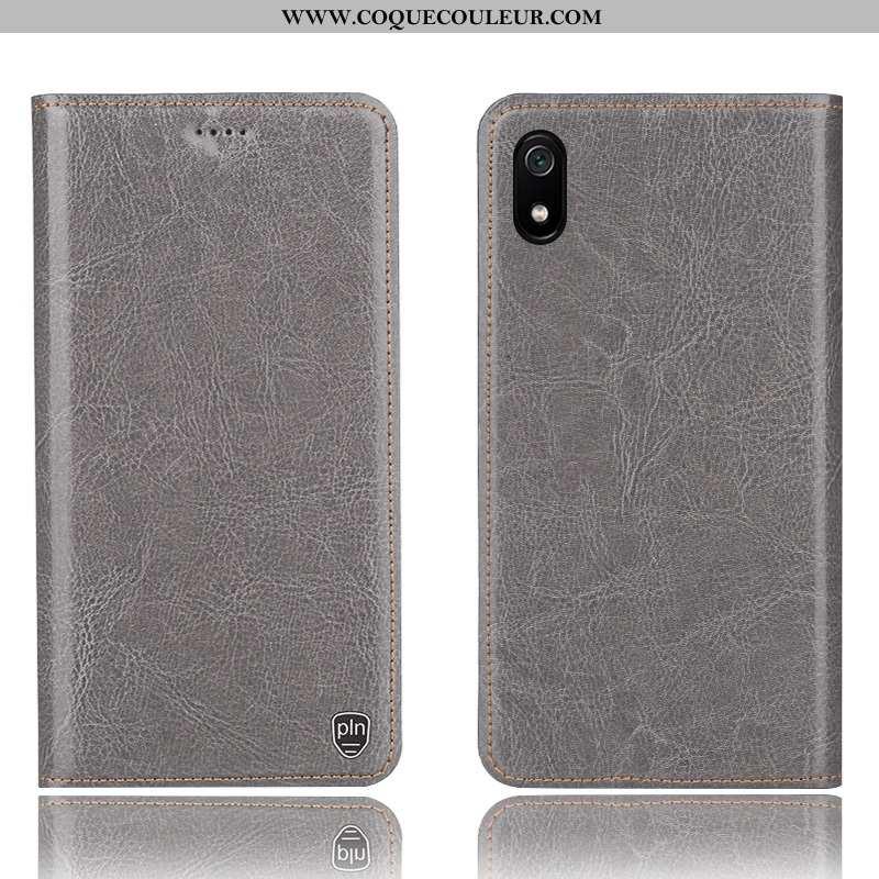 Coque Xiaomi Redmi 7a Modèle Fleurie Téléphone Portable Gris, Housse Xiaomi Redmi 7a Protection Roug