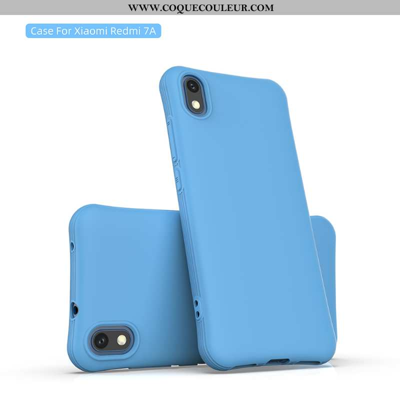 Étui Xiaomi Redmi 7a Fluide Doux Nouveau Étui, Coque Xiaomi Redmi 7a Personnalité Membrane Bleu