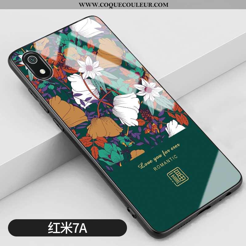 Étui Xiaomi Redmi 7a Silicone Personnalité Coque, Coque Xiaomi Redmi 7a Mode Téléphone Portable Vert