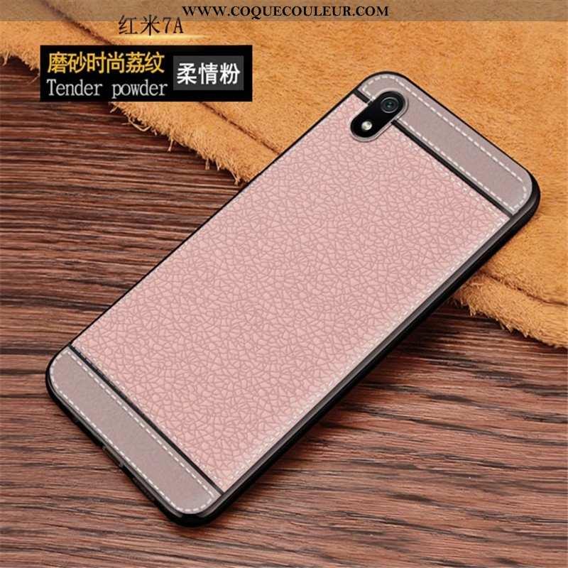 Housse Xiaomi Redmi 7a Personnalité Étui Rose, Xiaomi Redmi 7a Tendance Protection Rose