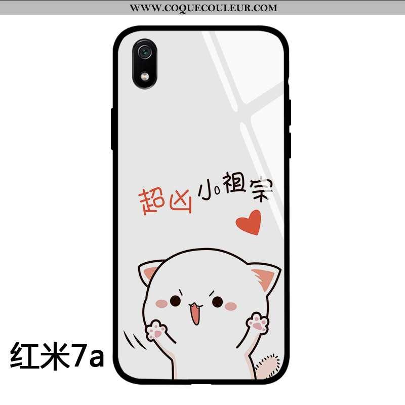 Housse Xiaomi Redmi 7a Dessin Animé Créatif Rouge, Étui Xiaomi Redmi 7a Charmant Tendance Blanche