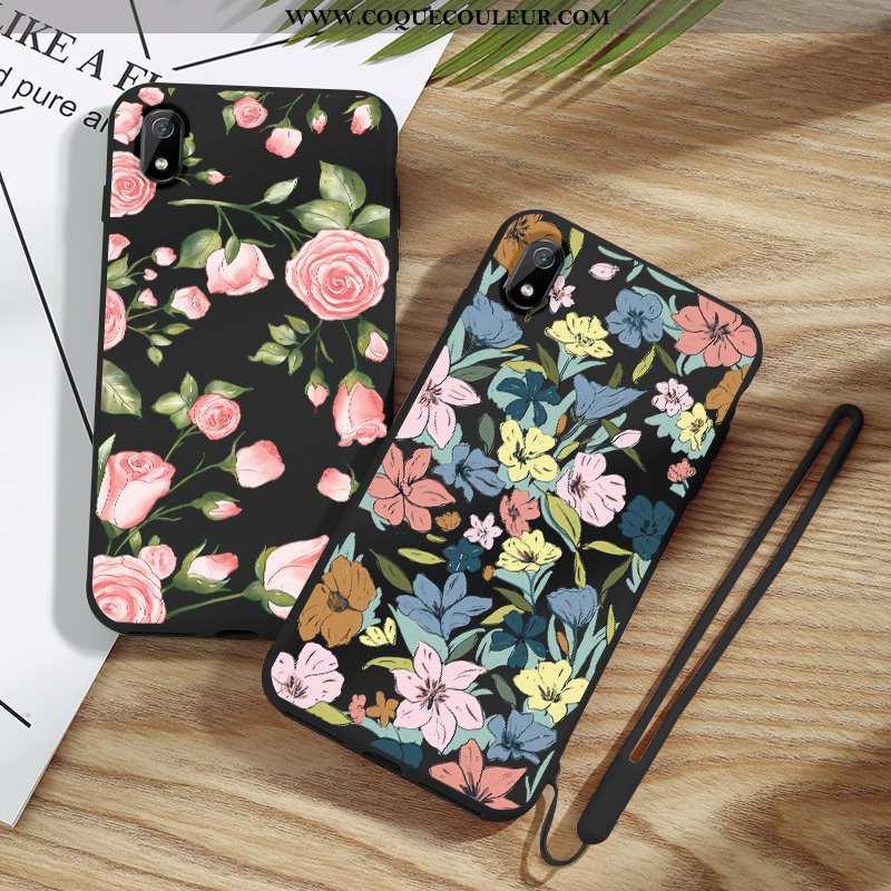 Coque Xiaomi Redmi 7a Fluide Doux Incassable Créatif, Housse Xiaomi Redmi 7a Silicone Étui Noir