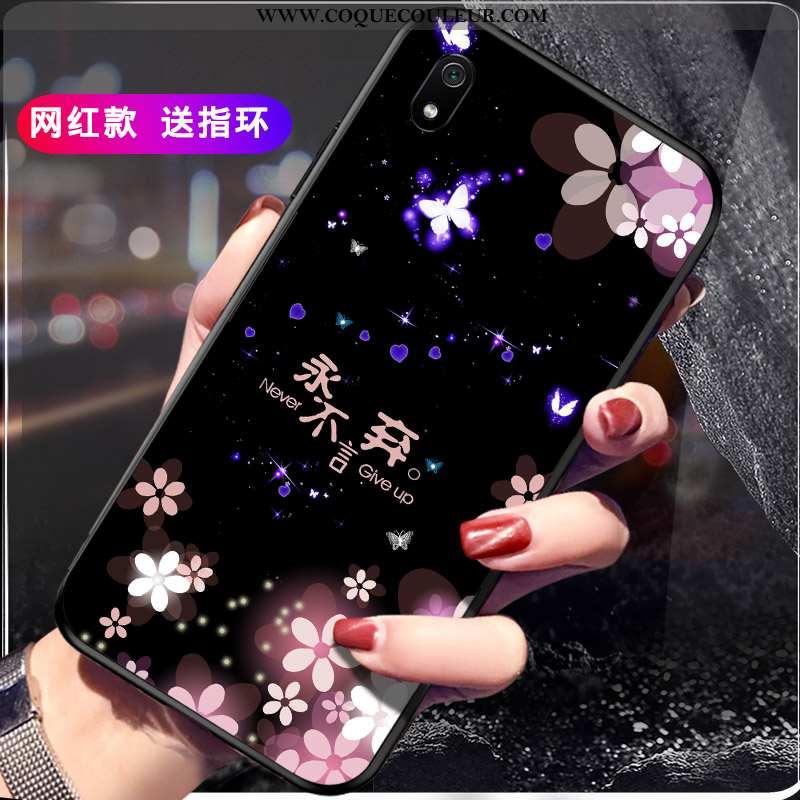 Coque Xiaomi Redmi 7a Silicone Étui Incassable, Housse Xiaomi Redmi 7a Protection Personnalité Noir