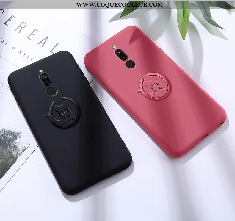 Housse Xiaomi Redmi 8 Fluide Doux Coque Rouge, Étui Xiaomi Redmi 8 Silicone Téléphone Portable Rouge