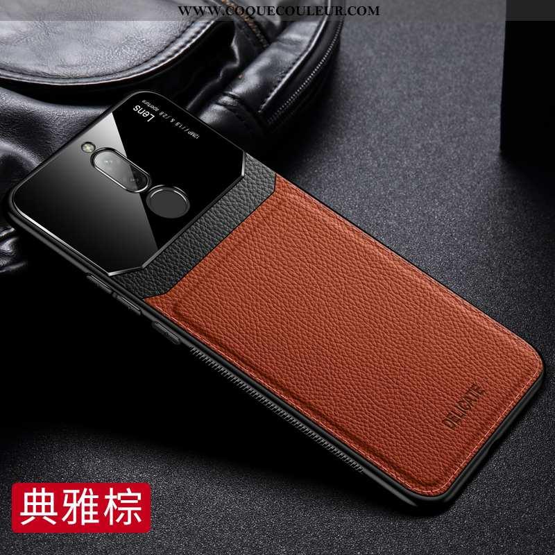 Étui Xiaomi Redmi 8 Cuir Tout Compris Net Rouge, Coque Xiaomi Redmi 8 Modèle Fleurie Protection Marr