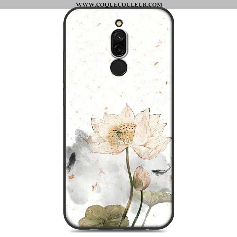 Housse Xiaomi Redmi 8 Créatif Étui Coque, Xiaomi Redmi 8 Fluide Doux Blanc Blanche