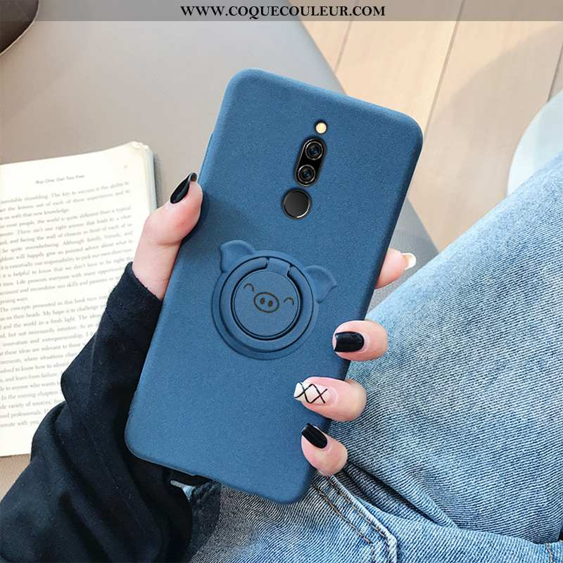 Coque Xiaomi Redmi 8 Silicone Étui Incassable, Housse Xiaomi Redmi 8 Protection Bleu