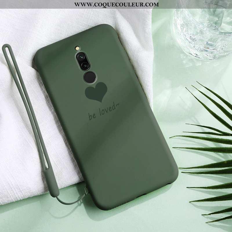 Étui Xiaomi Redmi 8 Fluide Doux Coque Ultra, Xiaomi Redmi 8 Silicone Téléphone Portable Verte