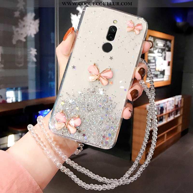 Housse Xiaomi Redmi 8 Protection Blanc Charmant, Étui Xiaomi Redmi 8 Créatif Téléphone Portable Blan