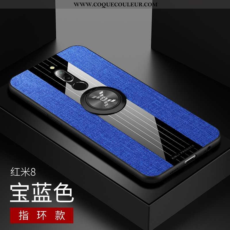 Étui Xiaomi Redmi 8 Protection Support Coque, Coque Xiaomi Redmi 8 Délavé En Daim Rouge Bleu