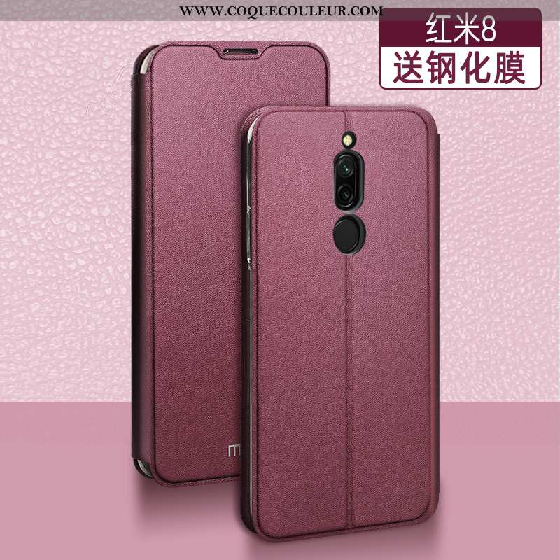 Housse Xiaomi Redmi 8 Créatif Téléphone Portable Cuir, Étui Xiaomi Redmi 8 Tendance Tout Compris Rou