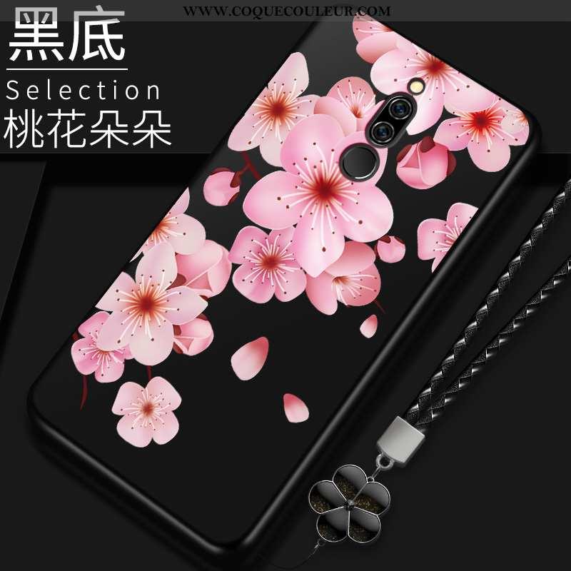 Coque Xiaomi Redmi 8 Délavé En Daim Noir, Housse Xiaomi Redmi 8 Personnalité Protection Noir