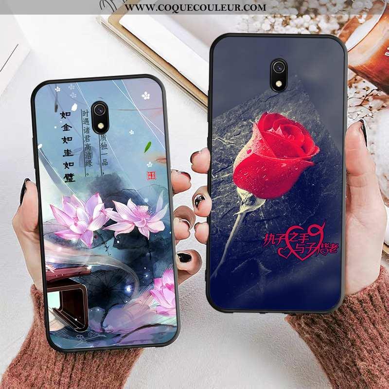Étui Xiaomi Redmi 8a Tendance Cou Suspendu Étui, Coque Xiaomi Redmi 8a Fluide Doux Rouge Noir