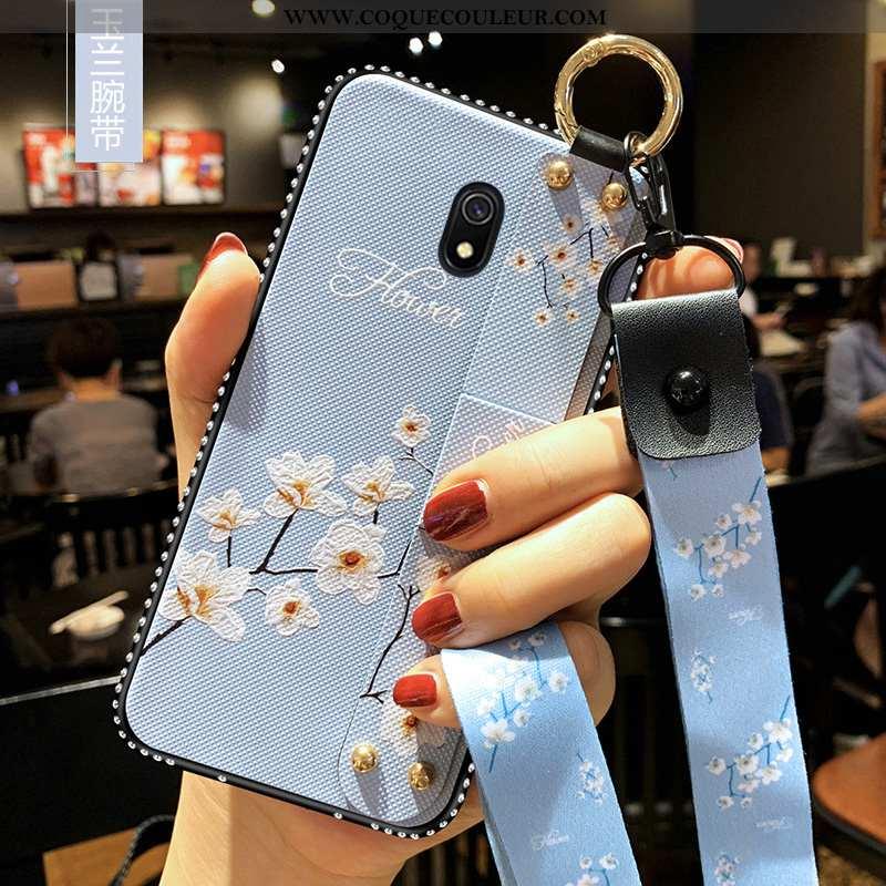 Housse Xiaomi Redmi 8a Silicone Fluide Doux Petit, Étui Xiaomi Redmi 8a Protection Rouge Bleu