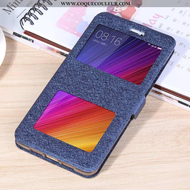 Étui Xiaomi Redmi 8a Protection Housse Étui, Coque Xiaomi Redmi 8a Cuir Rouge Bleu Foncé