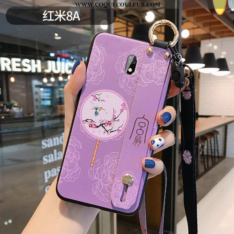 Étui Xiaomi Redmi 8a Créatif Violet Protection, Coque Xiaomi Redmi 8a Vintage Téléphone Portable