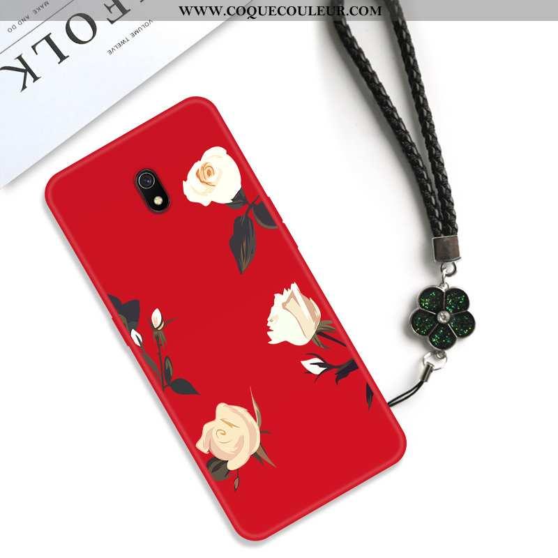 Étui Xiaomi Redmi 8a Créatif Fleur Net Rouge, Coque Xiaomi Redmi 8a Vintage Protection Rouge
