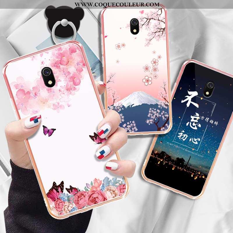 Étui Xiaomi Redmi 8a Mode Tout Compris Petit, Coque Xiaomi Redmi 8a Protection Net Rouge Rose