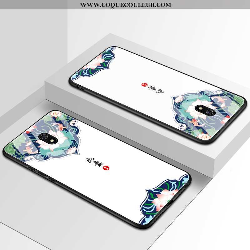 Housse Xiaomi Redmi 8a Mode Étui Créatif, Xiaomi Redmi 8a Protection Coque Blanche