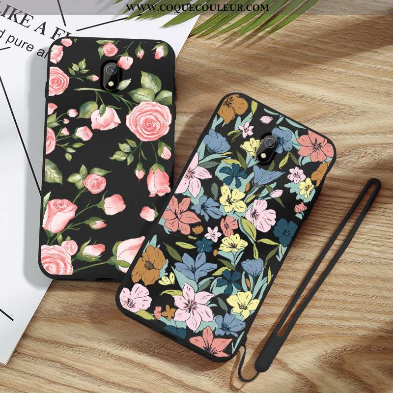 Étui Xiaomi Redmi 8a Créatif Silicone Mode, Coque Xiaomi Redmi 8a Légère Tout Compris Noir