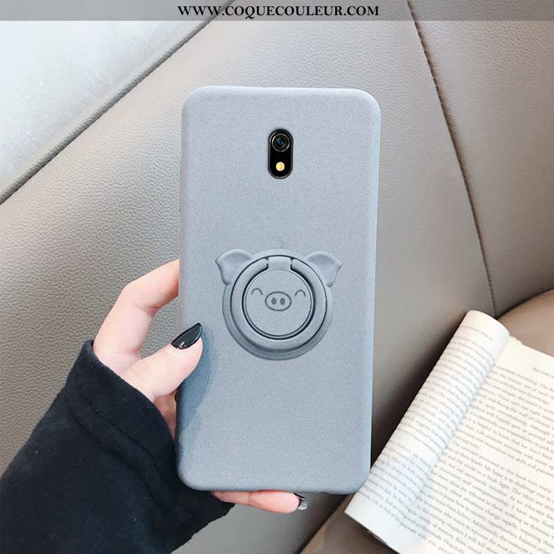 Étui Xiaomi Redmi 8a Fluide Doux Personnalité, Coque Xiaomi Redmi 8a Silicone Téléphone Portable Gri